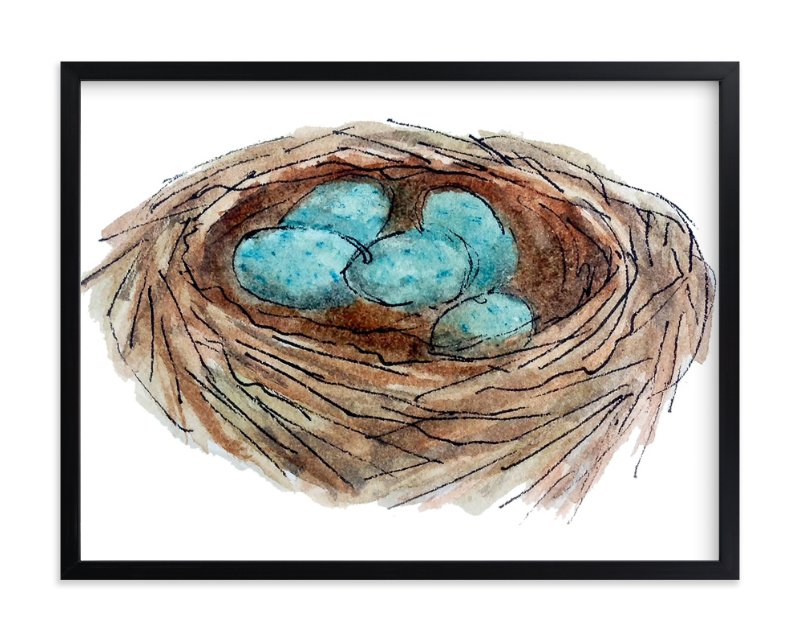 """""""Bird's Nest"""" - Art Print by Haley Moore in beautiful frame options and a variety of sizes."""