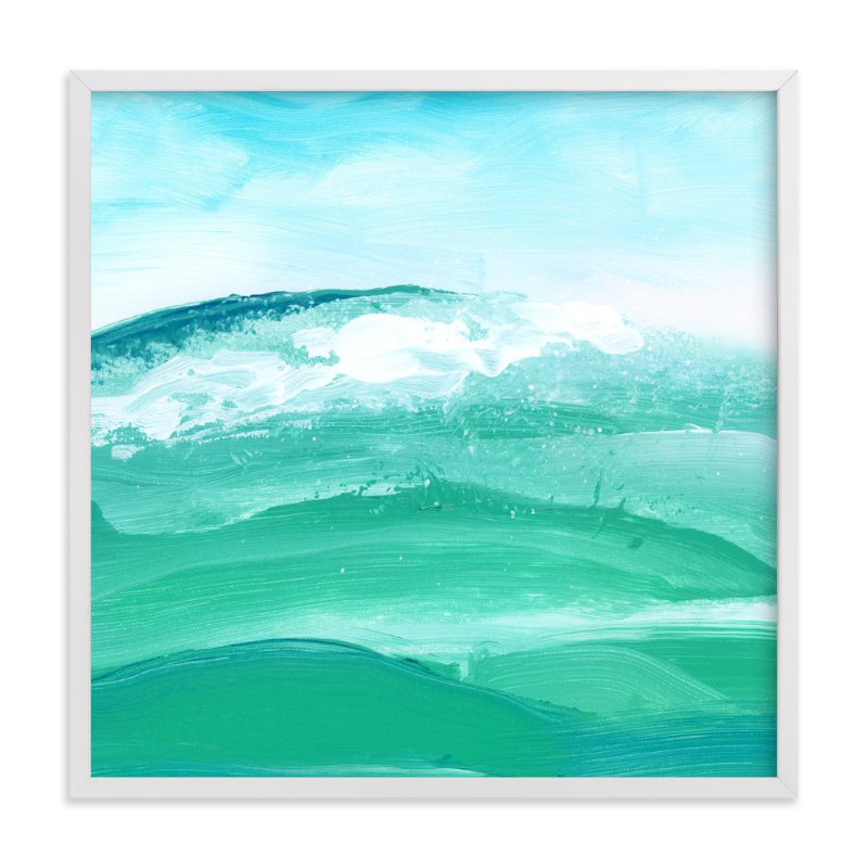 """""""Sea Wall"""" - Art Print by Lindsay Megahed in beautiful frame options and a variety of sizes."""