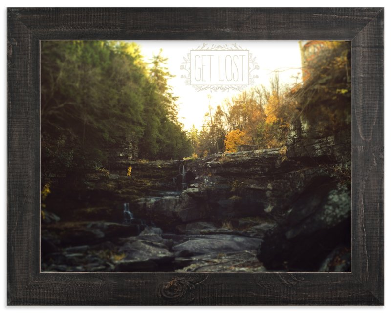 """Get Lost"" - Art Print by Smile Peace Love in beautiful frame options and a variety of sizes."
