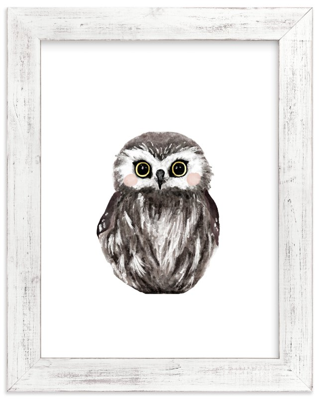 Baby Animal Owl Wall Art Prints By Cass Loh | Minted