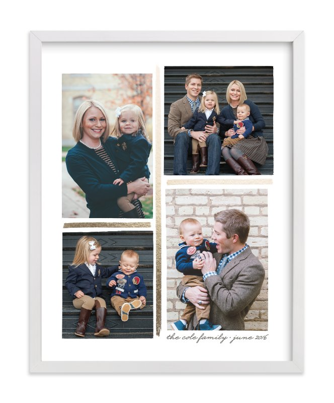 """""""4 Photo Collage"""" - Foil-pressed Photo Art Print by Hooray Creative in beautiful frame options and a variety of sizes."""