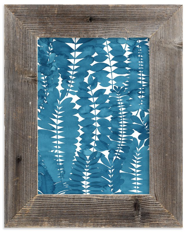 """Indigo Leaves"" - Limited Edition Art Print by Natalie Ryan in beautiful frame options and a variety of sizes."