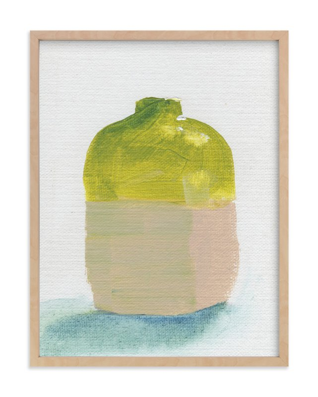 """Olive Jug"" - Art Print by Lindsay Megahed in beautiful frame options and a variety of sizes."