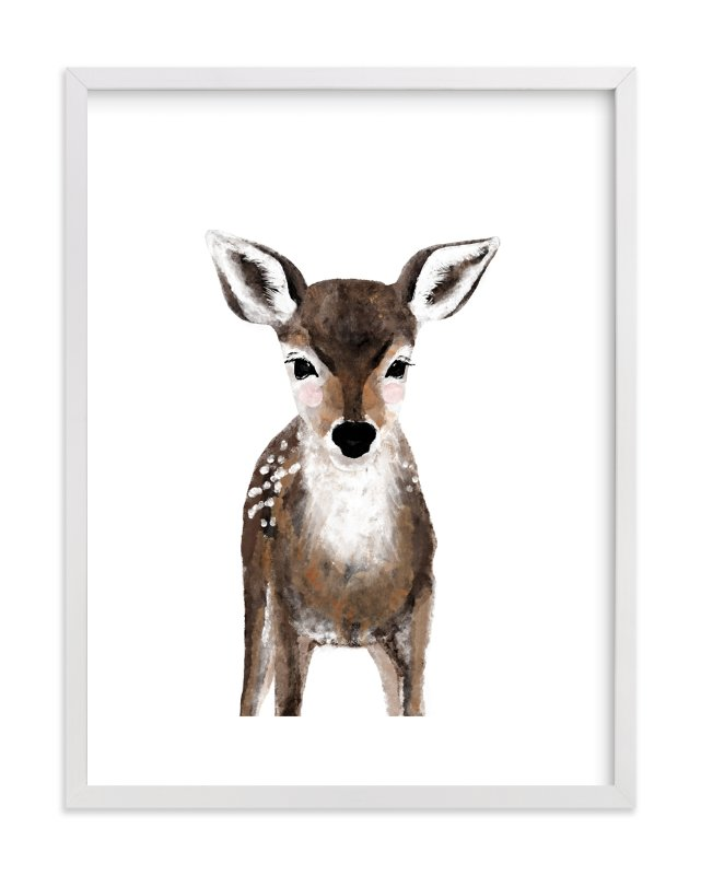 Baby Animal Deer Wall Art Prints By Cass Loh | Minted