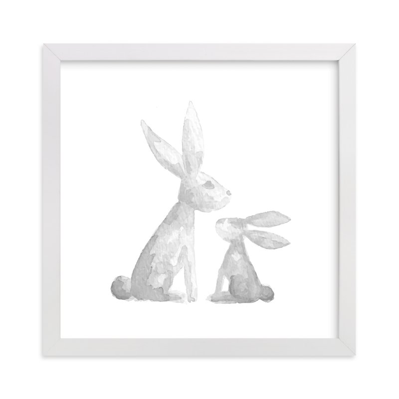 Sweet Baby Bunny Wall Art Prints by Jessie Steury | Minted