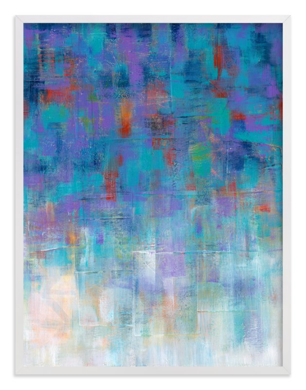"""""""Cool Rain"""" - Art Print by Laura Bolter Design in beautiful frame options and a variety of sizes."""