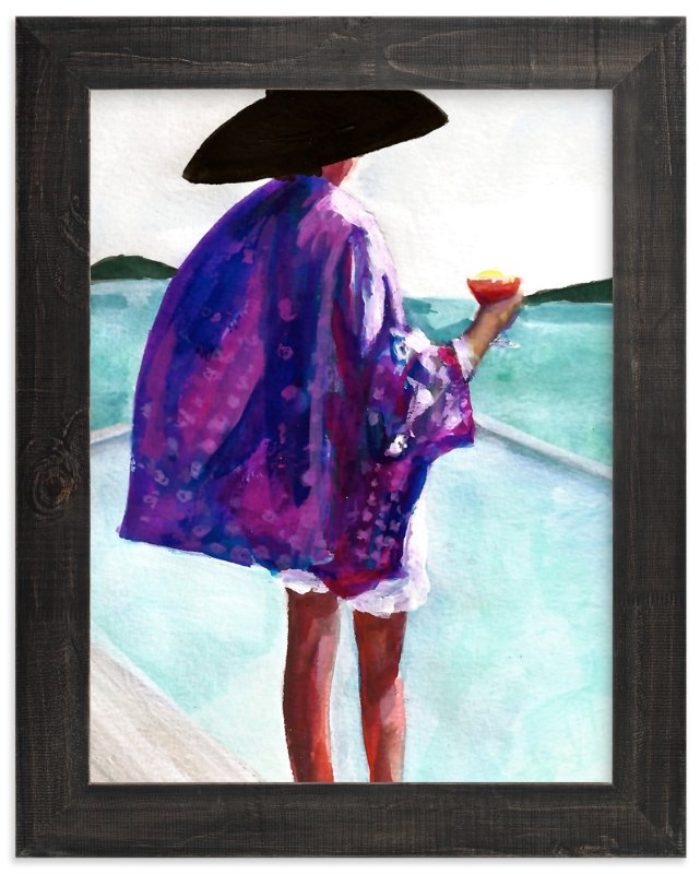 """""""Purple Kimono"""" - Art Print by Jenny Partrite in beautiful frame options and a variety of sizes."""