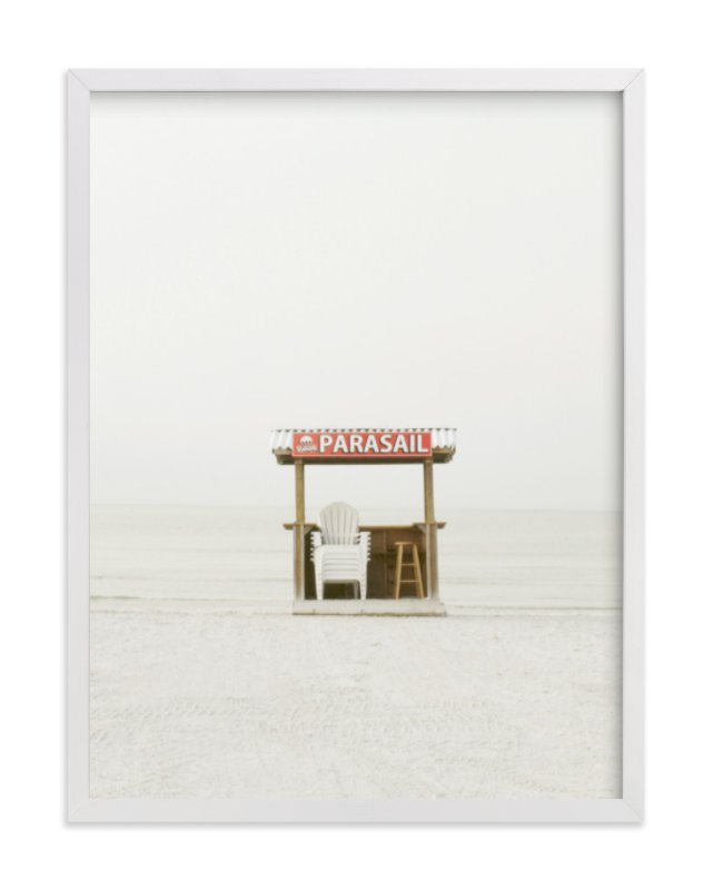 """The Beach"" - Art Print by Baumbirdy in beautiful frame options and a variety of sizes."