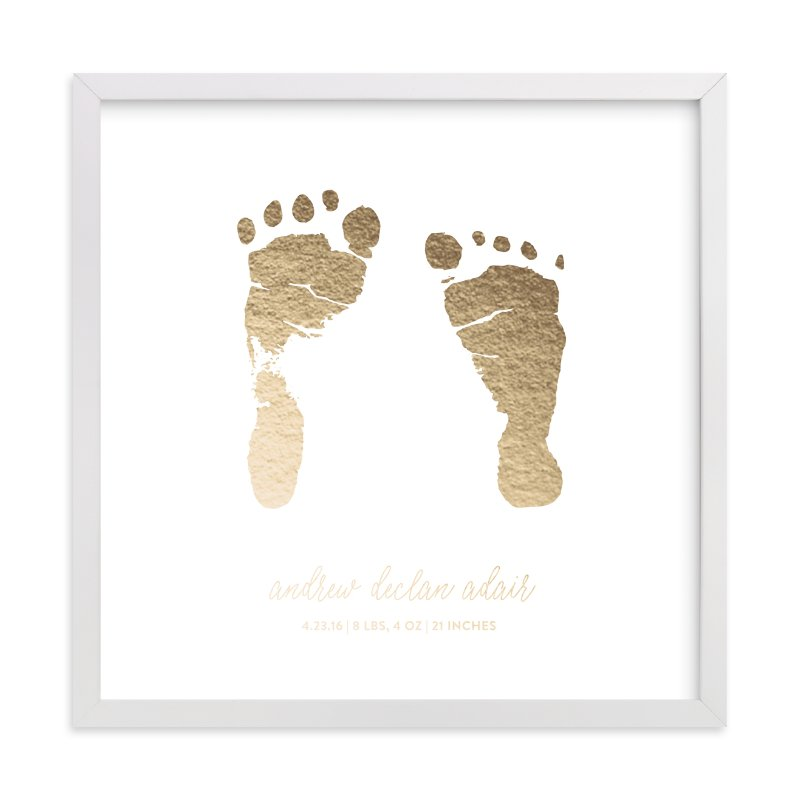 """Custom Footprints Foil Art"" - Drawn Foil Art by Minted in beautiful frame options and a variety of sizes."