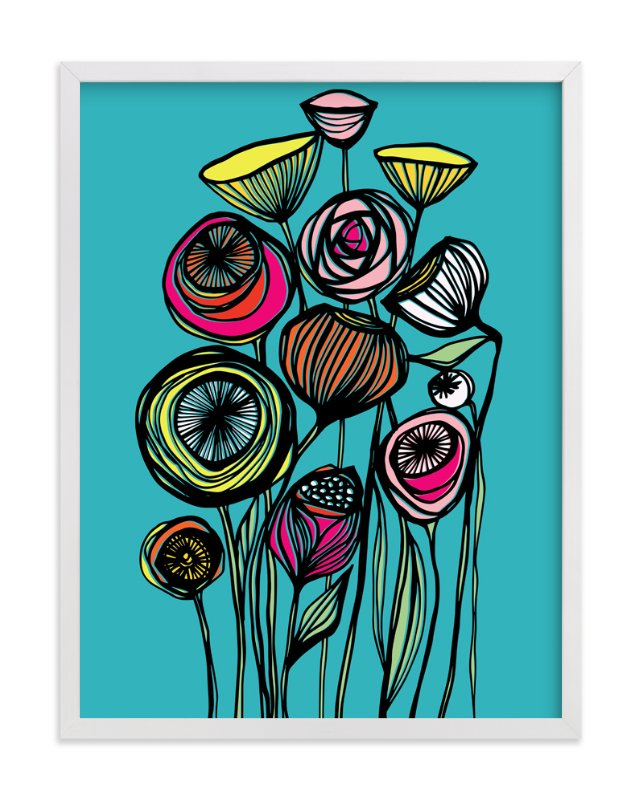 """""""Alcanena Floral"""" - Art Print by Gill Eggleston in beautiful frame options and a variety of sizes."""