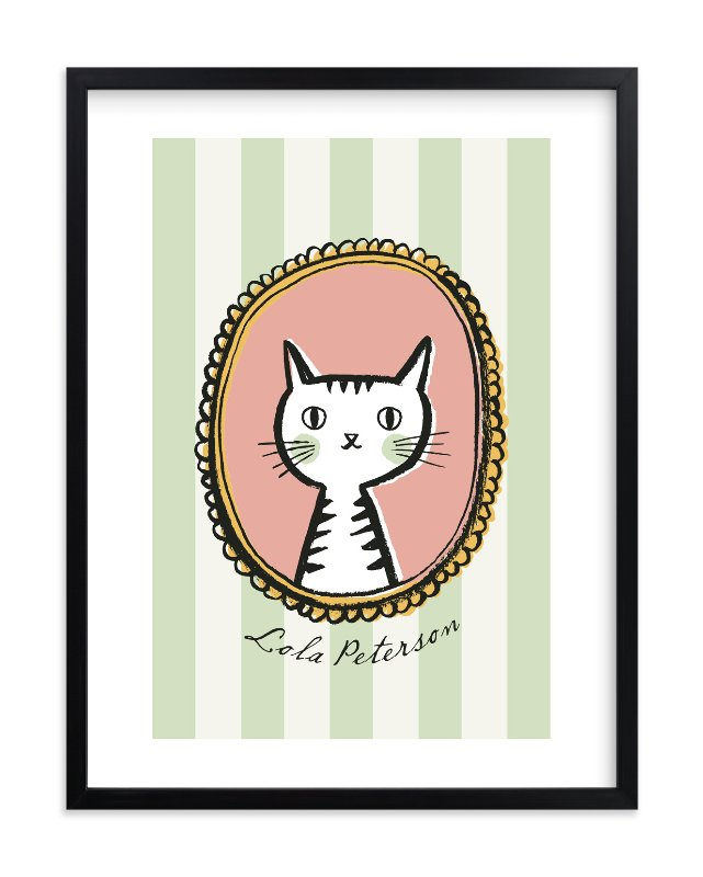 """""""Whiskers"""" - Children's Custom Art Print by j.bartyn in beautiful frame options and a variety of sizes."""