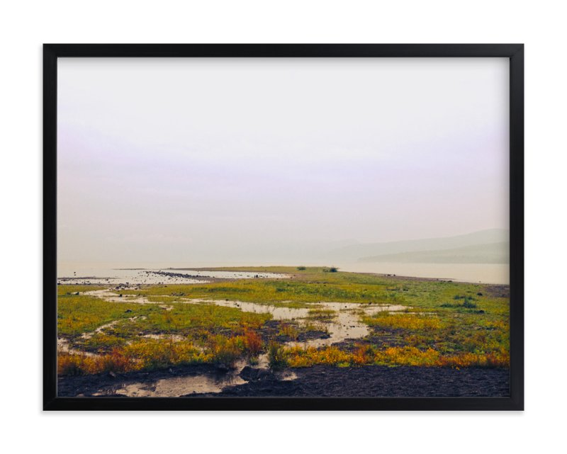 """hazy lake"" - Art Print by Gaucho Works in beautiful frame options and a variety of sizes."