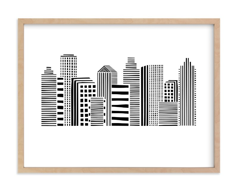 """Linear Cityscape"" - Limited Edition Art Print by Daniela in beautiful frame options and a variety of sizes."