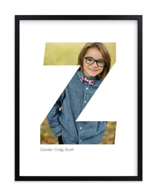 """""""Z - Within Letters of You"""" - Children's Custom Photo Art Print by Heather Francisco in beautiful frame options and a variety of sizes."""