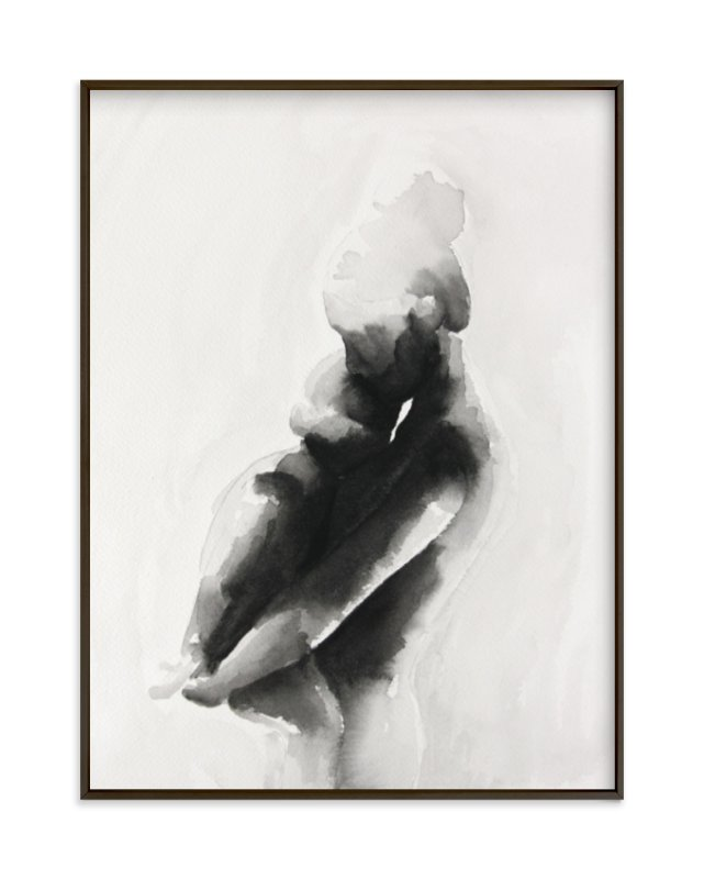 """mother embrace"" - Limited Edition Art Print by Kate Ahn in beautiful frame options and a variety of sizes."