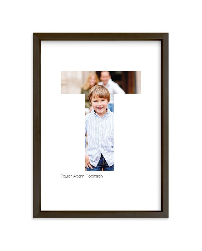 """""""T - Within Letters of You"""" - Children's Custom Photo Art Print by Heather Francisco in beautiful frame options and a variety of sizes."""