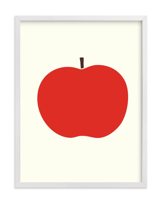 """Heirloom Apple"" - Art Print by Alexandra Stafford in beautiful frame options and a variety of sizes."