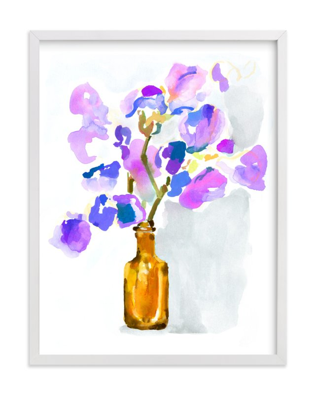 """Irises"" - Art Print by Betty Hatchett in beautiful frame options and a variety of sizes."