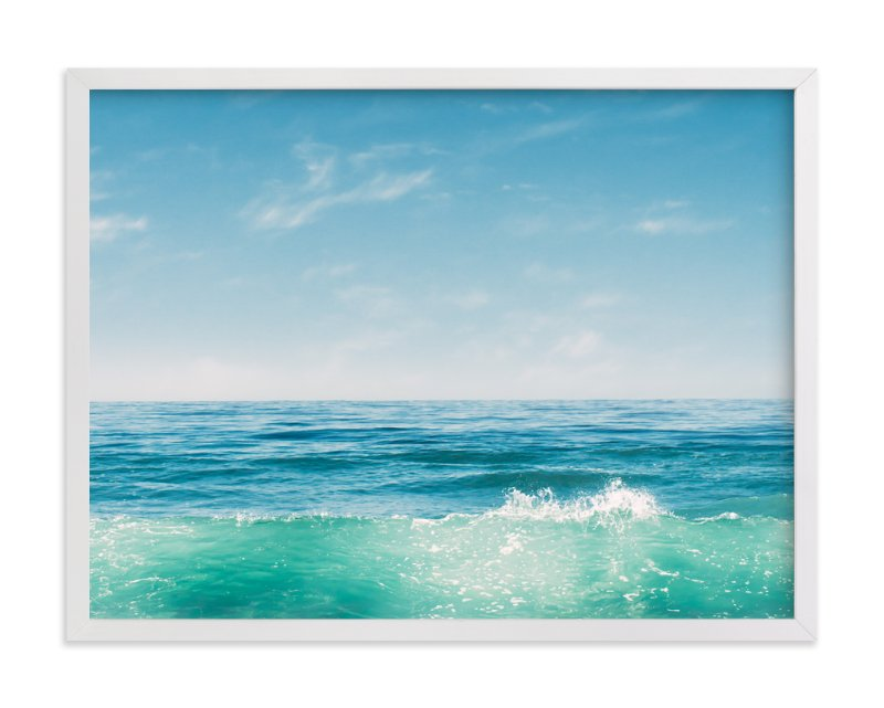 """Malibu Surf and Sky I"" - Art Print by Kamala Nahas in beautiful frame options and a variety of sizes."