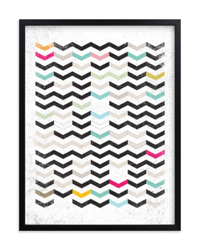 """""""DIRTY CHEVRON"""" - Art Print by Matthew Taylor Wilson in beautiful frame options and a variety of sizes."""