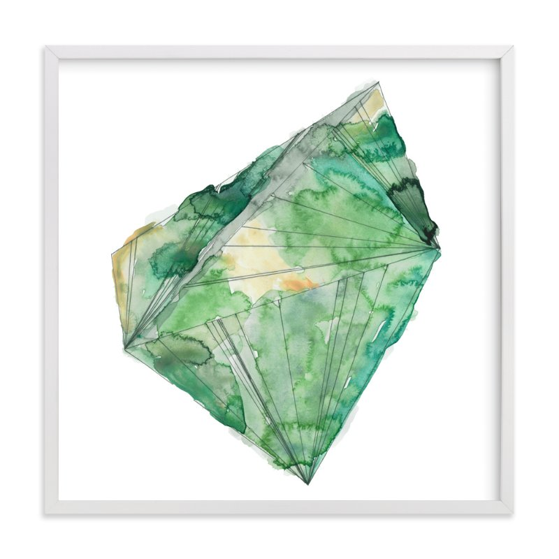 """emerald"" - Art Print by Naomi Ernest in beautiful frame options and a variety of sizes."