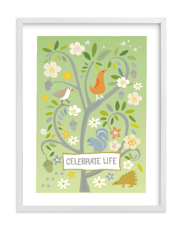 """Celebrate Life"" - Limited Edition Art Print by Griffinbell Paper Co. in beautiful frame options and a variety of sizes."