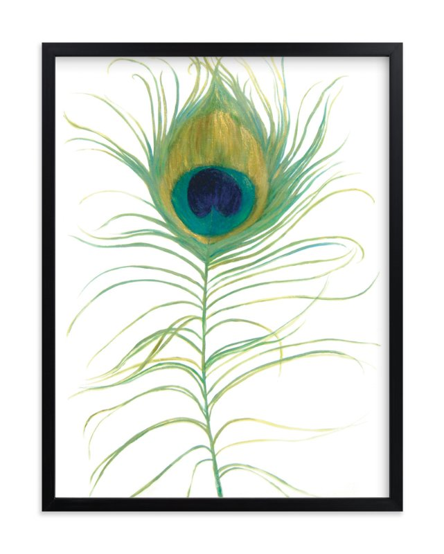 """Ruffled Feather"" - Art Print by LChantel in beautiful frame options and a variety of sizes."
