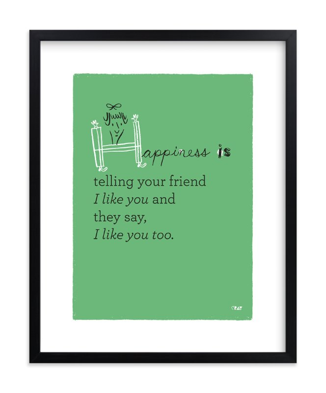 """Happiness Is..."" - Limited Edition Art Print by ERAY in beautiful frame options and a variety of sizes."
