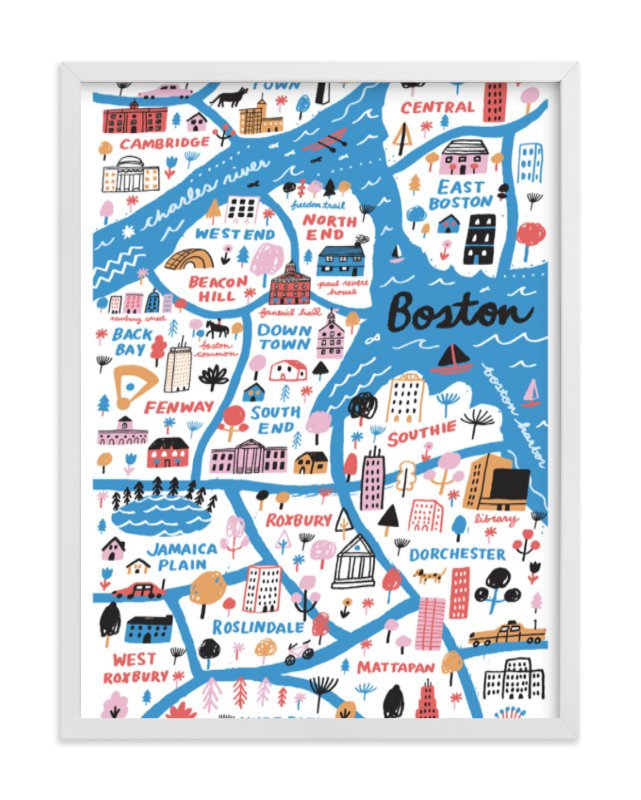I Love Boston Wall Art Prints By Jordan Sondler | Minted