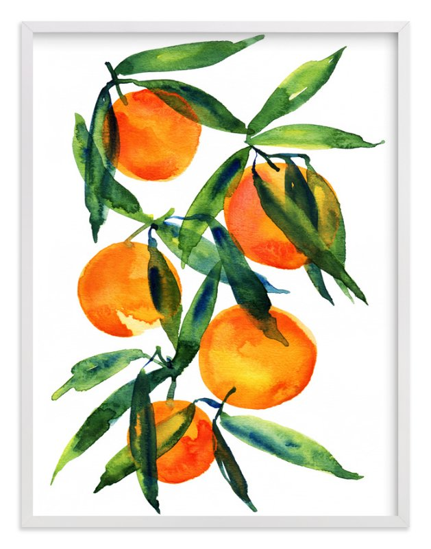 """""""Tangerine"""" - Art Print by Alexandra Dzh in beautiful frame options and a variety of sizes."""