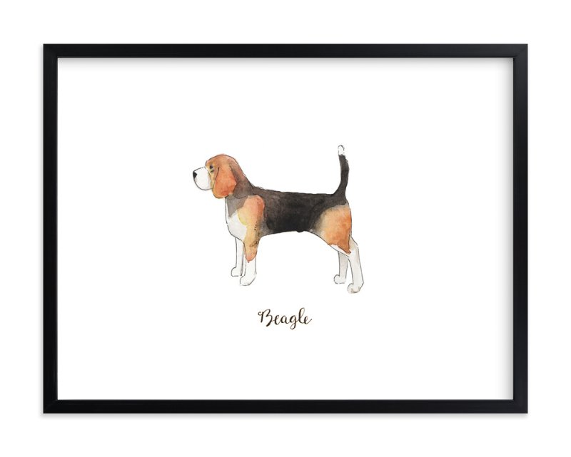 """""""Beagle"""" - Art Print by Megan Kelso in beautiful frame options and a variety of sizes."""