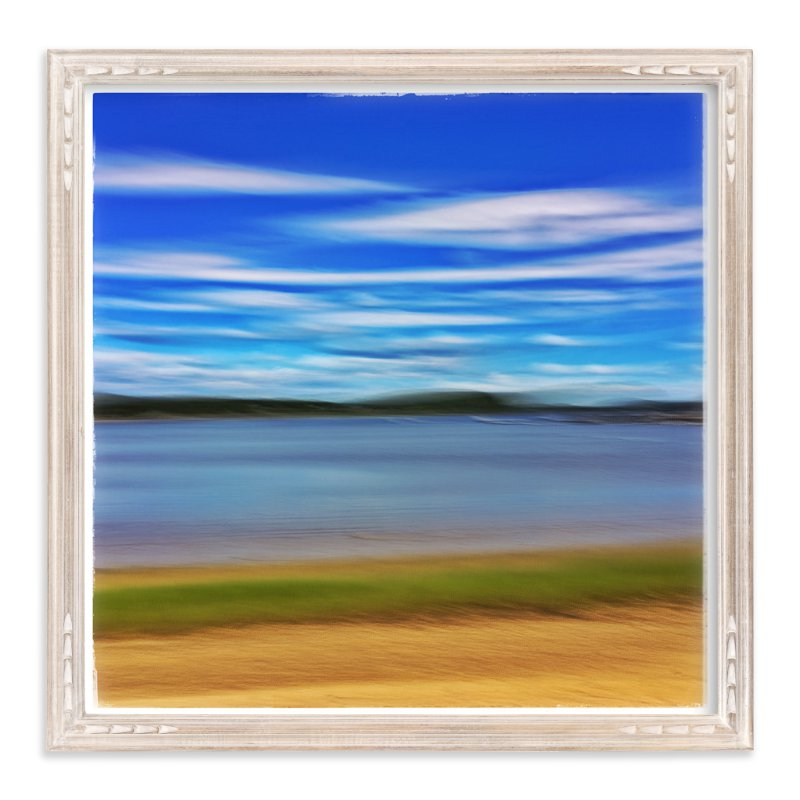 """Abstract Beachscape"" - Art Print by Andy Mars in beautiful frame options and a variety of sizes."