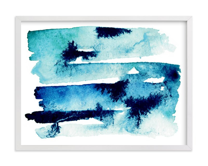 """Sea & Sky"" - Art Print by Naomi Ernest in beautiful frame options and a variety of sizes."