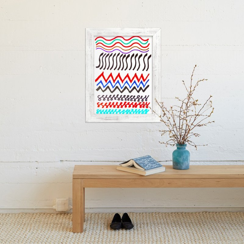 """waves"" - Art Print by aticnomar in beautiful frame options and a variety of sizes."