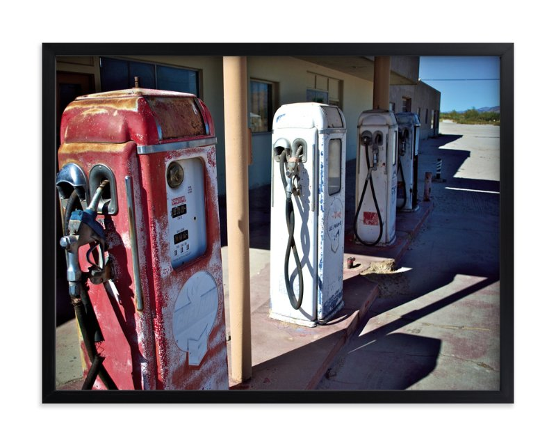 """Vintage Gas Station"" - Art Print by Horizon Photography in beautiful frame options and a variety of sizes."