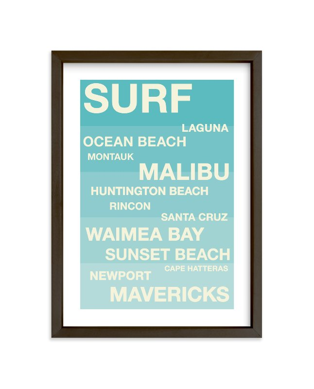 """""""Surf Hot Spots"""" - Children's Custom Art Print by Jennifer Cooper in beautiful frame options and a variety of sizes."""