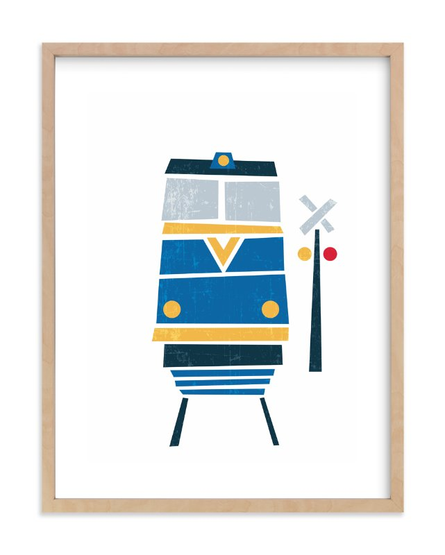 """Stacked Train"" - Art Print by Jennifer Morehead in beautiful frame options and a variety of sizes."