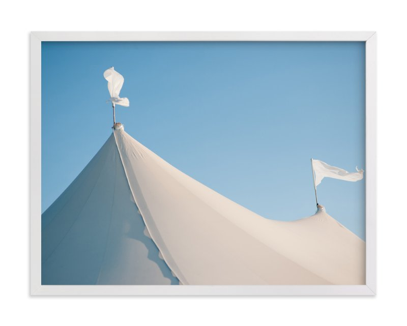 """White Tents"" - Art Print by Whitney Deal in beautiful frame options and a variety of sizes."