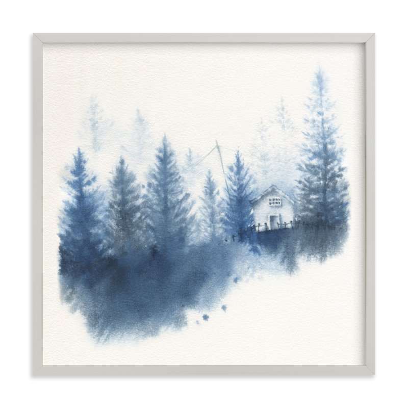 """House in the Woods"" - Art Print by Ekaterina Romanova in beautiful frame options and a variety of sizes."