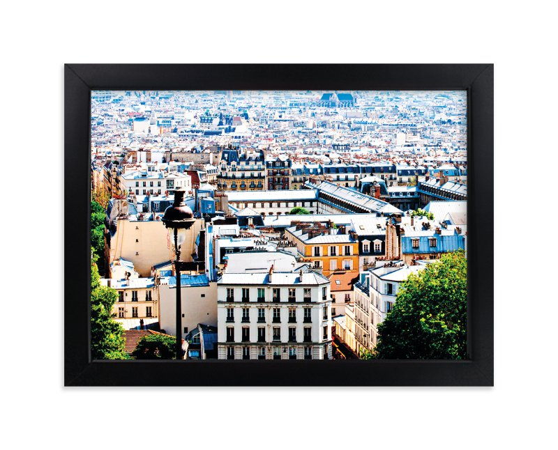 """""""Rooftops of Paris"""" - Art Print by TS Designs in beautiful frame options and a variety of sizes."""