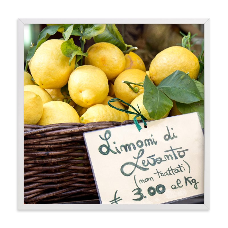 """Limoni di Levanto"" - Art Print by Three Kisses Studio in beautiful frame options and a variety of sizes."