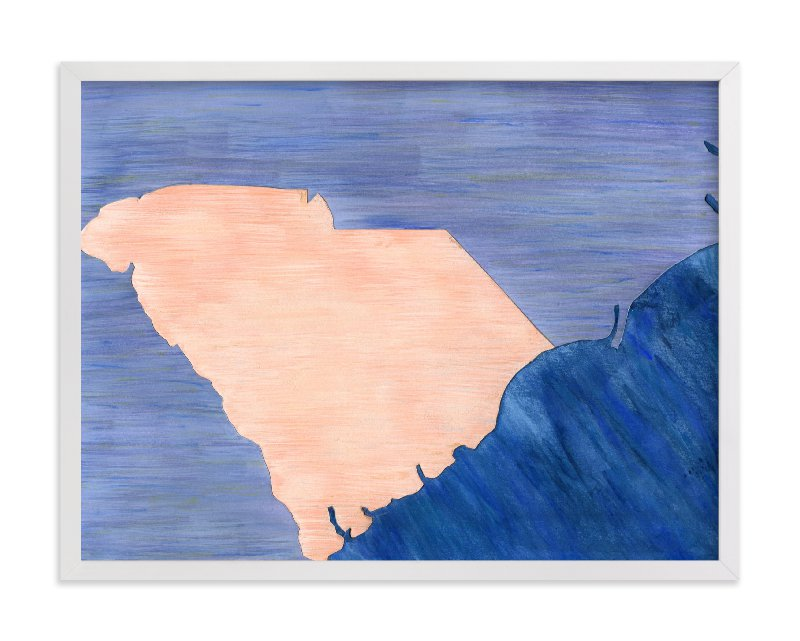 """South Carolina in Paint"" - Limited Edition Art Print by Denise Wong in beautiful frame options and a variety of sizes."