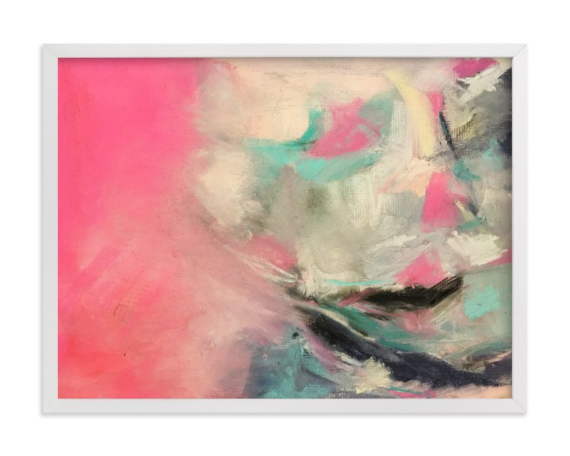 """Warm Is Winning Abstract Pastel Drawing"" - Art Print by Melanie Biehle in beautiful frame options and a variety of sizes."