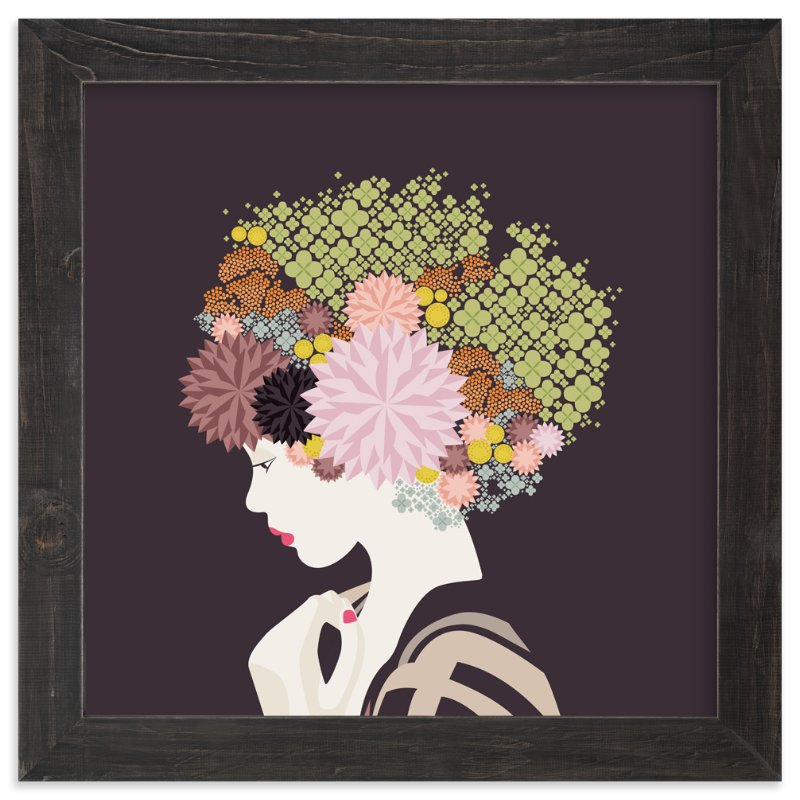 """I'd rather wear flowers "" - Art Print by Aspacia Kusulas in beautiful frame options and a variety of sizes."