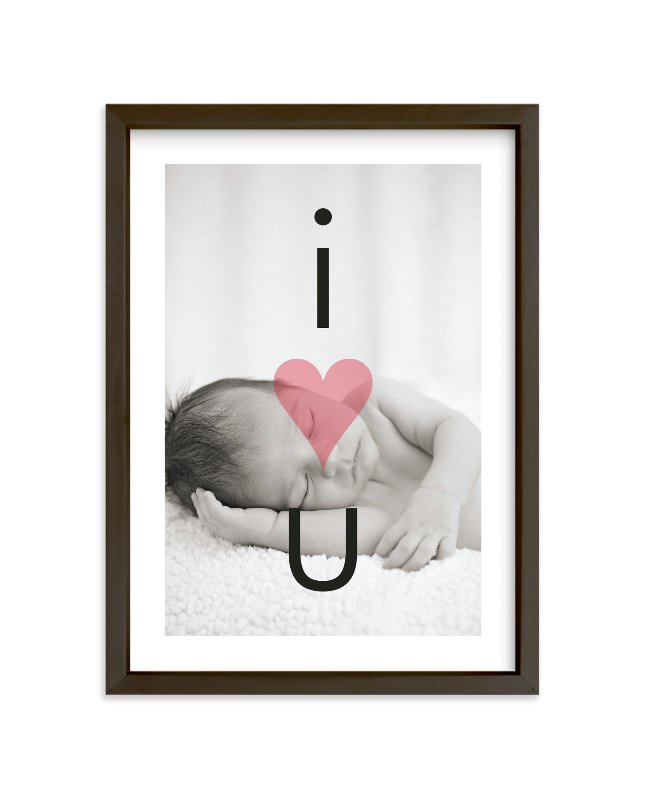 """""""I Heart U"""" - Nursery Custom Photo Art Print by Precious Bugarin Design in beautiful frame options and a variety of sizes."""