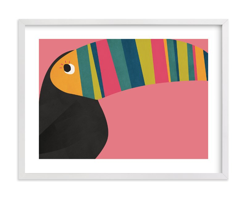 standard size wedding invitation%0A   Stripy Toucan    Limited Edition Art Print by Catherine Culvenor in  beautiful frame options
