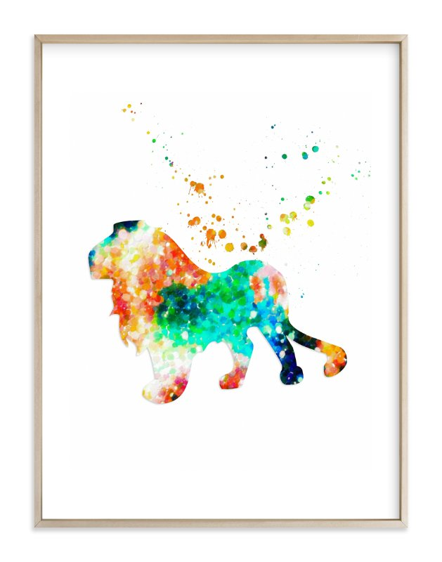 """""""The Proud Lion"""" - Art Print by Alex Isaacs Designs in beautiful frame options and a variety of sizes."""