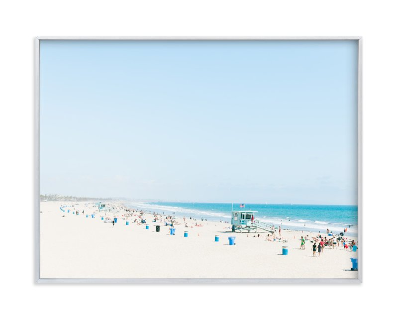 """Santa Monica Blues"" - Art Print by Jessica Cardelucci Nugent in beautiful frame options and a variety of sizes."
