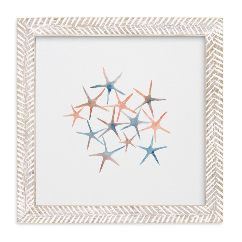 """Seastars"" - Art Print by Mia Posada in beautiful frame options and a variety of sizes."