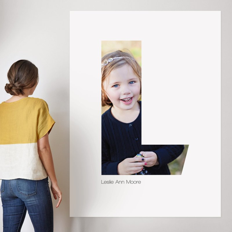 """""""L - Within Letters of You"""" - Children's Custom Photo Art Print by Heather Francisco in beautiful frame options and a variety of sizes."""